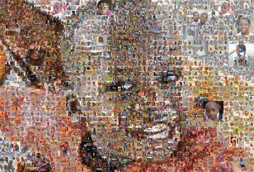 image mosaic, Eli from Haiti