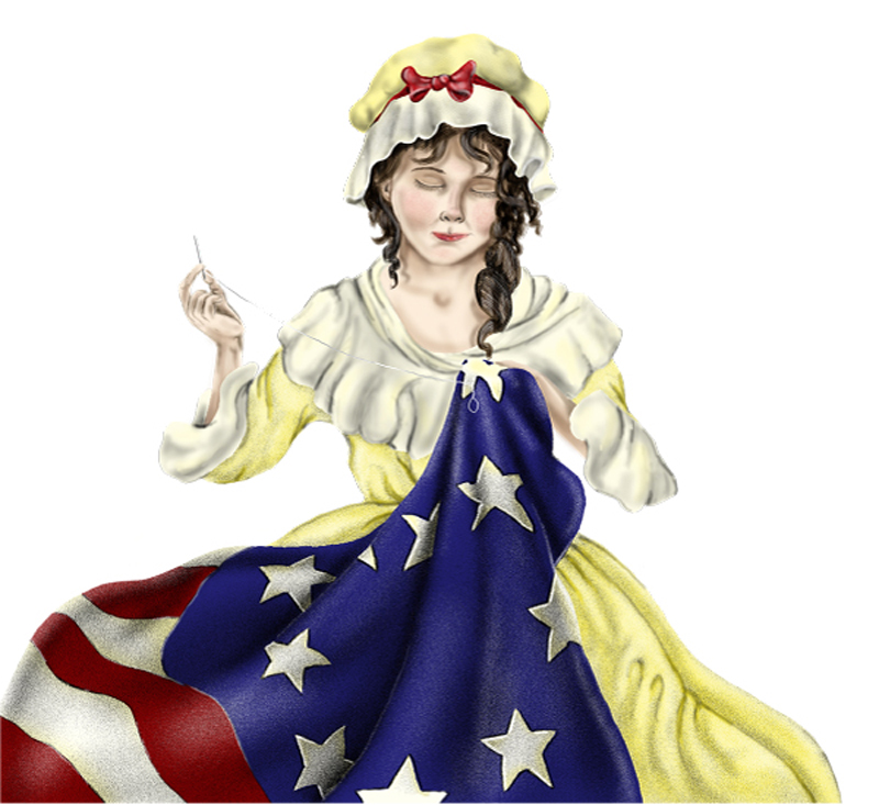 Caricature of Betsy Ross