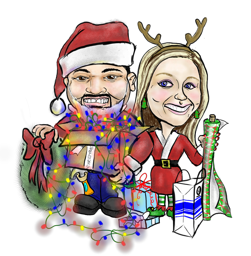 Christmas Caricature - The Honey Doers