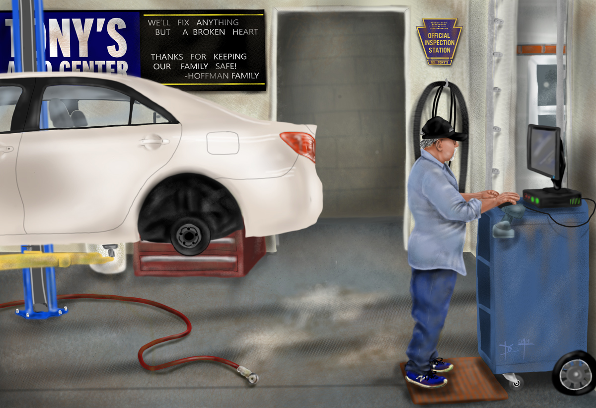 caricature - Tony's Auto Center